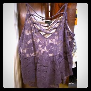 Purple lace blouse